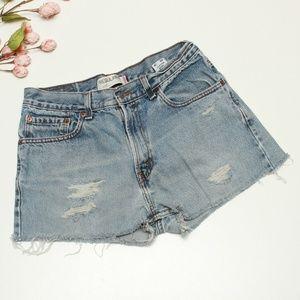 Levi's 505 Cut off Distressed Jean Shorts